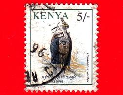 KENIA - Usato - 1994 - Uccelli - Aquila Urlatrice - Birds - Haliaeetus Vocifer - 5/- - Kenia (1963-...)