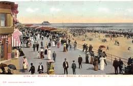 A-19-2530 :  VIEW OF BOARD WALK AND BEACH.  ATLANTIC CITY. - Atlantic City