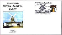 25 Anniv. GOLDEN HISTORICAL SOCIETY - MOLINO - WINDMILL. Golden IL 2011 - Molinos