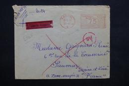 ALLEMAGNE - Affranchissement Mécanique De Kassel En 1943 Sur Enveloppe En Exprès Pour La France- L 23639 - Allemagne