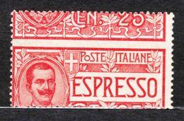 Italy Kingdom 1903 Express Mail, Espressi Sassone#1 Mint Never Hinged, Error, Freak! - 1900-44 Victor Emmanuel III.