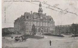 *** 87  ***  LIMOGES  La Mairie Et Attelage -  Précurseur Timbré TB - Limoges