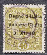 Italy Venezia Giulia 1918 Sassone#10 Used - Venezia Giulia