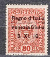 Italy Venezia Giulia 1918 Sassone#13 Mint Never Hinged - Venezia Giulia