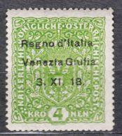 Italy Venezia Giulia 1918 Sassone#17 Mint Hinged No Thin - Venezia Giulia