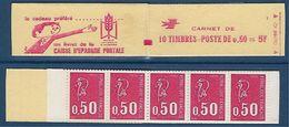 "FR Carnet YT 1664-C1 "" 10 Bequet 50c. Rouge "" 1971 Ouvert - Usage Courant"