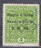Italy Venezia Giulia 1918 Sassone#17 Used, Minor Thin Part - Venezia Giulia