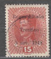 Italy Trento, Trentino Alto Adige 1918 Sassone#6 Used - 8. Occupazione 1a Guerra