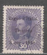 Italy Trento, Trentino Alto Adige 1918 Sassone#9 Used - Trente