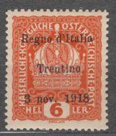 Italy Trento, Trentino Alto Adige 1918 Sassone#3 Mint Never Hinged - Trente