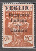 Fiume 1920 Carnaro Islands-Veglia, Krk Sassone#3 Big Letter Overprint, Caratteri Grande, Mint Hinged - 8. WW I Occupation