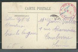 FRANCE 191? CPA   Illustrée  Militaire GVC De Maintenon - Postmark Collection (Covers)