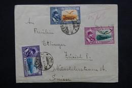 IRAN - Enveloppe De Mecher Via Téhéran Pour La Suisse En 1940 , Affranchissement Plaisant - L 23641 - Iran