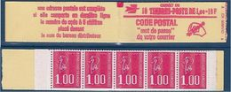 "FR Carnet YT 1892-C2 "" 10 Bequet 1F. Rouge "" 1976 Ouvert - Markenheftchen"