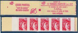 """FR Carnet YT 1972-C2 """" 10 Sabine1F. Rouge """" 1978 Ouvert - Markenheftchen"""