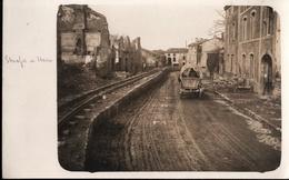 ! Ca. 1917 , Etain [55], 1. Weltkrieg, Seltenes Foto, Feldbahn, Photo, Guerre, Frankreich - Etain
