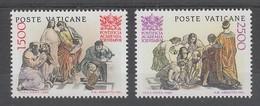 PAIRE NEUVE DU VATICAN - 50E ANNIVERSAIRE DE LA FONDATION DE L'ACADEMIE PONTIFICALE DES SCIENCES N° Y&T 800/801 - Sciences