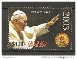 ANTIGUA & BARBUDA - 2005 Papa GIOVANNI PAOLO II Nuovo** MNH - Papi
