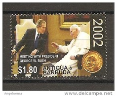 ANTIGUA & BARBUDA - 2005 Papa GIOVANNI PAOLO II Incontro Col Presidente Usa George Bush Nuovo** MNH - Papi