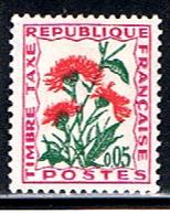 (2F 330) FRANCE  // YVERT 95 // TIMBRE TAXE FLEUR // 1964-71 - Impuestos