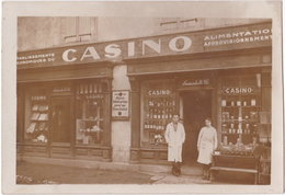 71. Carte-photo. MERVANS. Etablissements Economiques Du Casino - Altri Comuni