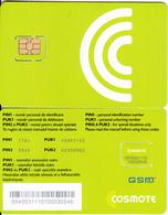 ROMANIA - Cosmote GSM(micro Sim), Chip Cos11, Mint - Roumanie