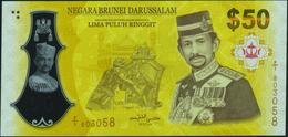 BRUNEI - 50 Ringgit 05.10.2017 {Polymer} {Commemorative} UNC P.New - Brunei