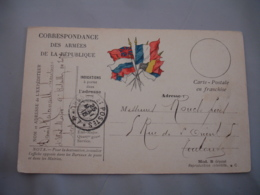 Tresor Et Poste 47 Cachet Franchise Postale Militaire Guerre 14.18 - Marcophilie (Lettres)