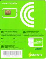 ROMANIA - Cosmote GSM, Chip Cos4, Mint - Rumania