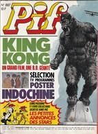 Rare Pif Gadget N°887 King Kong - Pif Gadget
