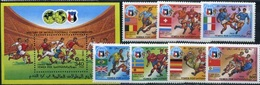 South Yemen World Cup 1990, 7 Stamps +s/s Block - Coupe Du Monde