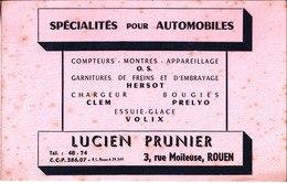 Lucien Prunier. Spécialités Pour Automobiles. Hersot. Clem. Prelyo. Volix. Rouen. - Automotive