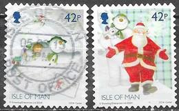 Man - Noël - Adhesifs - Y&T N° 2024 / 2025  - Oblitérés - Lot 196 - Man (Ile De)