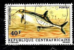 CENTRAFRIQUE 146° 40f Poissons Gnathonemus Elephas (10% De La Cote + 0,15) - Centrafricaine (République)