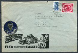 "Germany 1952 Decorativer Firmen Bedarfsbrief FEKA Kipper Mit Mi.Nr.130-FEKA Werbevignette Und Tstp"" Kassel.... ""1 Beleg - LKW"