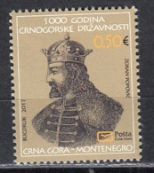 3.- MONTENEGRO 2017  Historical Heritage  - Prince Vladimir (997-1016) - Montenegro