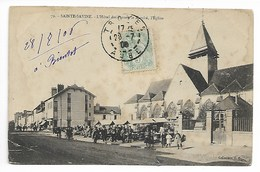 Sainte SAVINE 1906 HÔTEL POSTE Marché AUBE Près De Troyes Pont Saint Marie André Lusigny Vendeuvre Sur Barse - Autres Communes