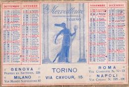 Calendarietto Per L'anno 1932- Pubblicitario Le Merveilleuse Confezioni Per Signora Torino 9,80 X 6,50-an2 - Tamaño Pequeño : 1921-40