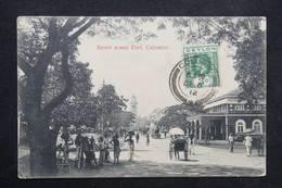 CEYLAN - Affranchissement De Colombo Sur Carte Postale En 1912 Pour Matelot Sur Sous Marin ( Le Lynx) à Saïgon - L 23657 - Ceylon (...-1947)