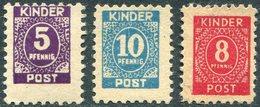 Germany Children Toy Post 5 + 10 Pf. ** MNH + 8 Pf. Kinderpost Spielzeug Deutschland Poste Enfantine Jouet Allemagne (3) - Other