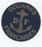 AUTOCOLLANT  -DOUANES DE FRANÇAISES      --Y2 - Autocollants