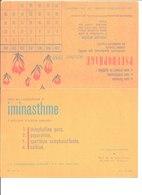 Pseudophage Octobre 1958. Polyholoside Naturel. Laboratoires Servier Orléans; Iminasthme Pyridium. - Buvards, Protège-cahiers Illustrés