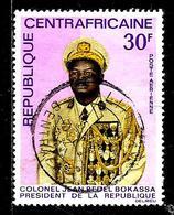 CENTRAFRIQUE Aer54° 30f Lilas Et Polychrome Colonel Président Jean Bedel Bokassa (10% De La Cote + 0,15) - Centrafricaine (République)
