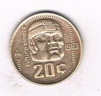 20 CENTAVOS  1983  MEXICO /1566/ - Mexique