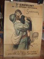"""Affiche ORIGINAL """"3eme EMPRUNT DE LA DÉFENSE NATIONALE"""" AUGUSTE LEROUX - 1914/18 - 1914-18"""