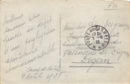 A-19-2588 : OBLITERATION POSTE AUX ARMEES N° 4 . DATEE DU 2 AOUT 1928. BITCHE LE CAMP. - Marcophilie (Lettres)