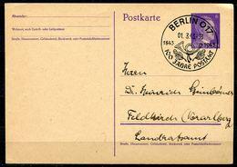 """German Empires 1943 Kopfbild A.Hitler GS Mi.Nr.P299 I Mit SST""""Berlin O17-100 Jahre Postamt,Posthorn."""" 1 GS - Deutschland"""
