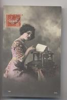 MACHINE A ÉCRIRE - 1912 - Jolie Femme - Autres