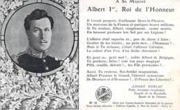 FAMILLES ROYALES Royal Families ( BELGIQUE ) ALBERT 1er Roi De L'Honneur - CPA Königliche Familien Koninklijke - Familles Royales