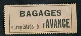 """Etiquette Timbre Pour Envoi Postal Par Train - Années 40 """"Bagages Enregistrés à L'avance"""" SNCF - Titres De Transport"""